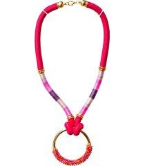 collar agata rosado lila bijulovers