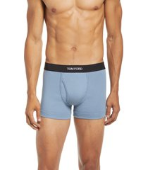 tom ford cotton stretch jersey boxer briefs, size small in steel blue at nordstrom