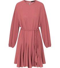jurk met plooien oud roze