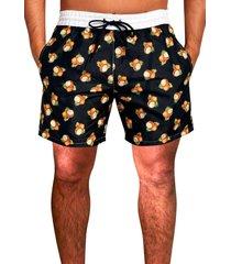 shorts praia ks microfibra estampa verão ref.397