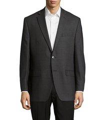 textured notched-lapel woolen jacket