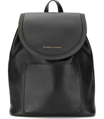 brunello cucinelli micro stud backpack - black