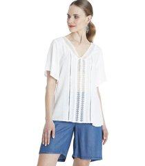 blusa rayas blanca curvi
