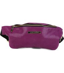 pochete couro jorge bischoff glossy purple feminina