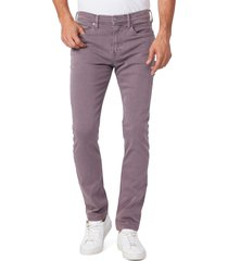 men's paige transcend lennox slim tapered leg five pocket pantszip fly with button closure, size 29 - blue