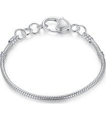 braccialetto a catena semplice serpent bone pattern braccialetto con fibbia ad ardiglione bracciale elegante per le donne