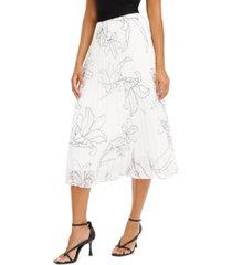 alfani petite pleated floral-print skirt, created for macy's