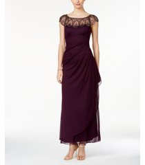 xscape petite embellished illusion gown