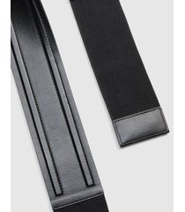 lane bryant women's snap-on faux-leather belt 26/28 black