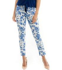 pantalon para mujer en dril multicolor color multicolor talla 8