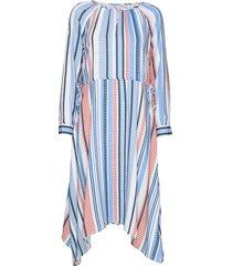 dress-light woven jurk knielengte blauw brandtex