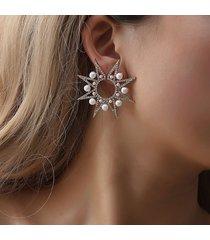 perla di lusso orecchini a forma di fiore per il sole orecchini con diamante per le donne