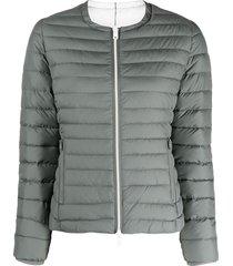ecoalf padded recycled polyester jacket - grey