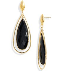 women's gas bijoux serti cage drop earrings