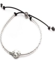 labrador retriever head bracelet in sterling silver