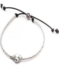 labrador retriever head bracelet in sterling silver