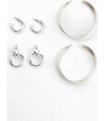 set di orecchini (set 6 pezzi) (argento) - bpc bonprix collection