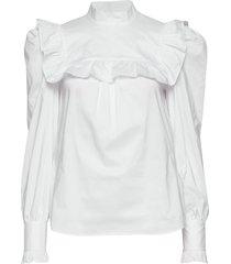 vivica blouse lange mouwen wit custommade