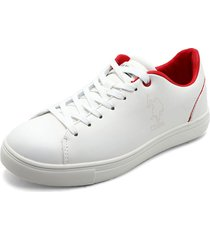 tenis blanco-rojo us polo assn