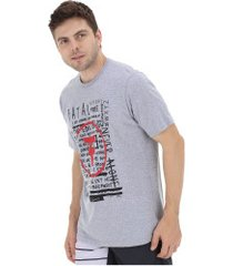 camiseta fatal estampada 20342 - masculina - cinza claro