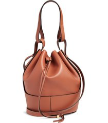 loewe balloon leather bucket bag - brown