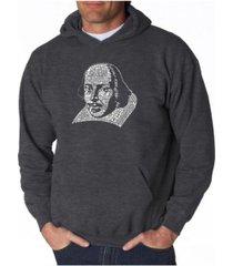 la pop art men's word art hooded sweatshirt - shakespeare