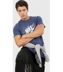 camiseta azul-blanco nike