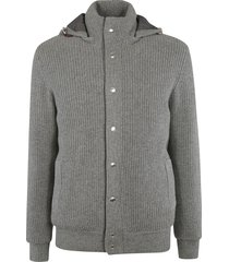 brunello cucinelli woven hooded jacket
