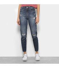 calça jeans cigarrete colcci suki cintura alta feminina
