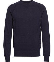 m. cotton cashmere knitted swe gebreide trui met ronde kraag blauw filippa k