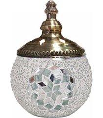 porta velas mosaico turco - 12x16