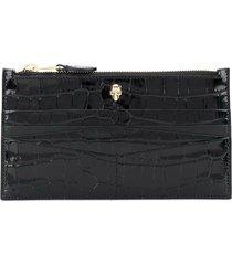 alexander mcqueen flat zip wallet w/c