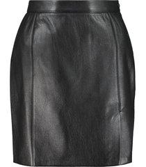 nanushka gima leather mini skirt