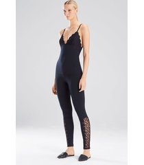 element cami pajamas, women's, black, cotton, size xl, josie natori