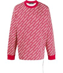 mastermind japan all-over logo sweatshirt - red
