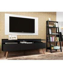 rack londres, estante escada e painel para tv até 55 polegadas madesa preto