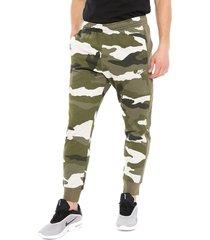 pantalón de buzo nike m nsw club jggr ft camo multicolor - calce regular