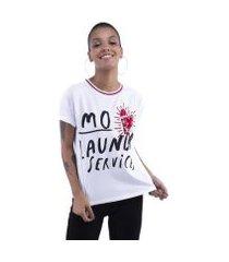 blusa pop me t-shirt aplicações feminina