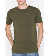 jack & jones jjeorganic basic tee ss o-neck noos t-shirts & linnen mörk grön