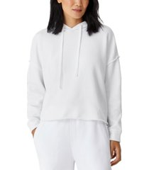 eileen fisher organic cotton cropped hoodie