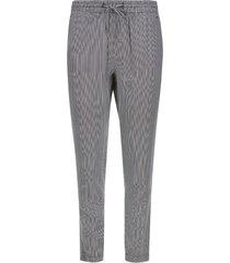 pantalón mujer estampado a rayas color negro, talla 6
