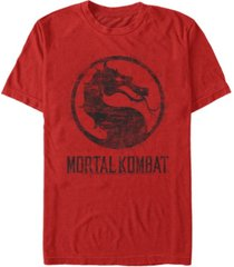 men's mortal kombat klassic splatter logo short sleeve t-shirt