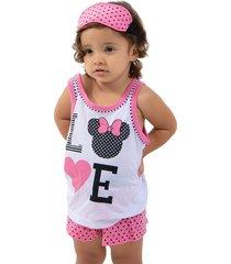 baby doll minnie pijama 4 estações rosa