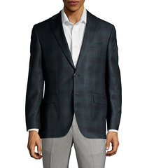 classic fit tonal plaid wool suit jacket