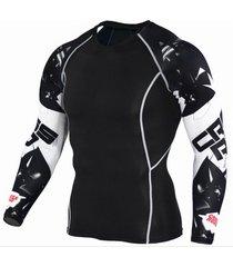 camiseta hombre crossroad 3d manga larga tc116 negro