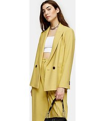 lime green marl double breasted blazer - lime