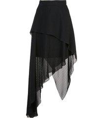 asymmetric plumetis skirt