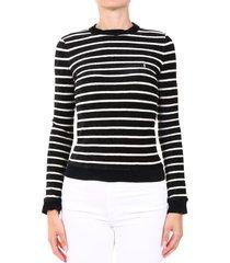 saint laurent striped velvet sweatshirt