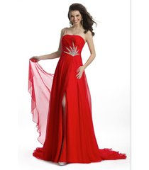 stunning sexy silk beaded one strap pageant prom gown, prima donna 5581