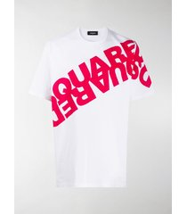 dsquared2 loose-fit mirrored logo t-shirt